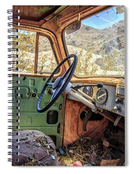 Old Truck Interior Nevada Desert Spiral Notebook by Edward Fielding