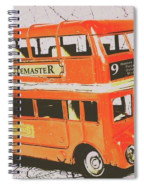 Old United Kingdom Travel Scene Spiral Notebook
