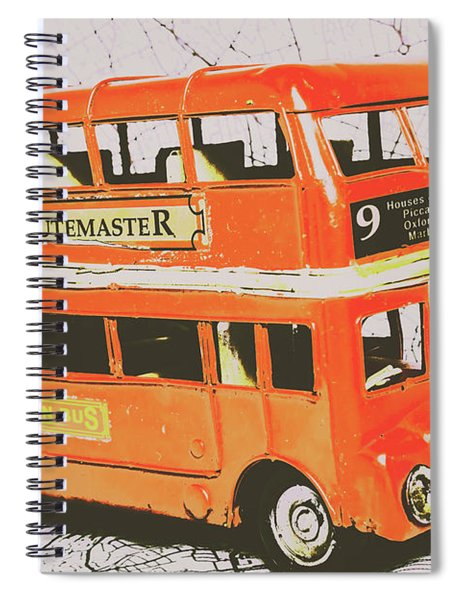 Old United Kingdom Travel Scene Spiral Notebook
