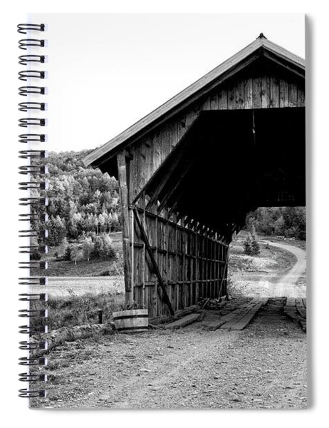 Old Vermont Covered Bridge 5 Spiral Notebook