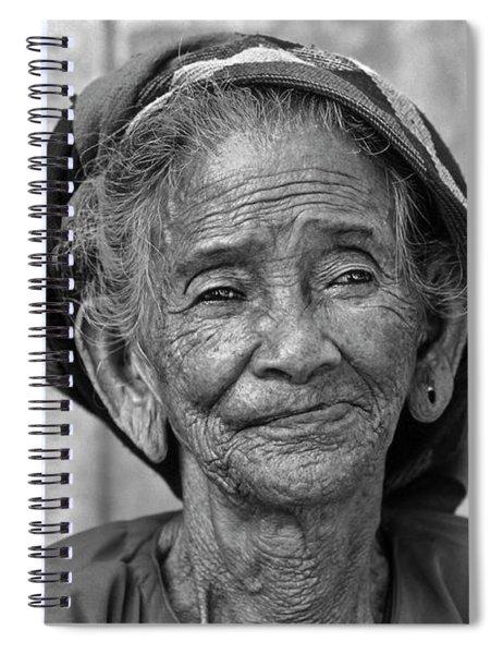 Old Vietnamese Woman Spiral Notebook
