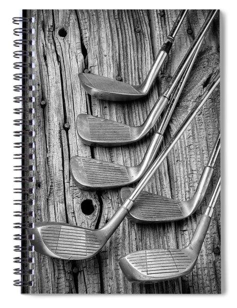 Old Vintage Golf Clubs Spiral Notebook