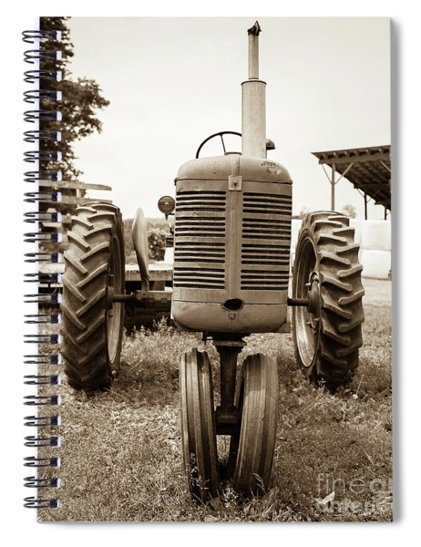 Old Vintage Tractor Cornish New Hampshire Spiral Notebook