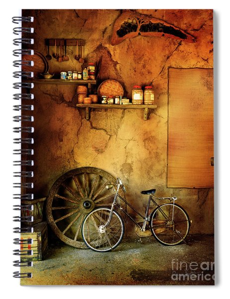 Old Warehouse Bicycle Spiral Notebook