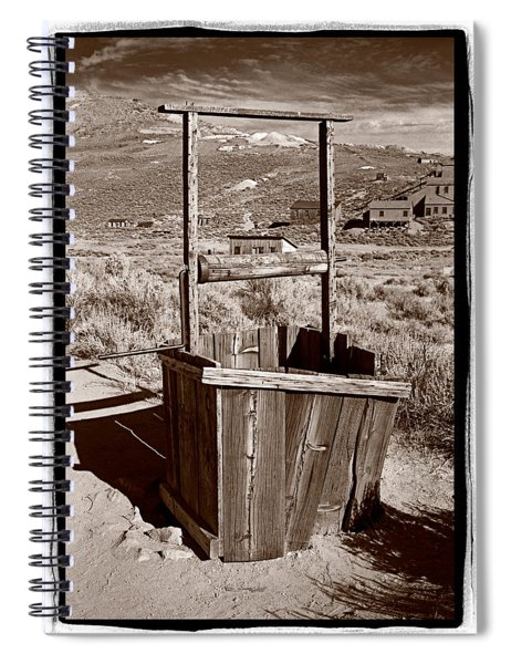 Old Well Bodie Ghost Twon California Spiral Notebook