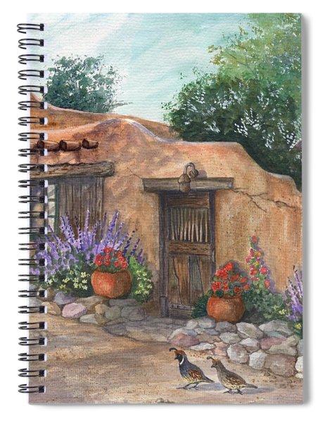Old Adobe Cottage Spiral Notebook
