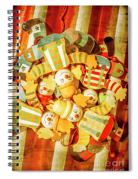 Olden Day Clown Show Spiral Notebook