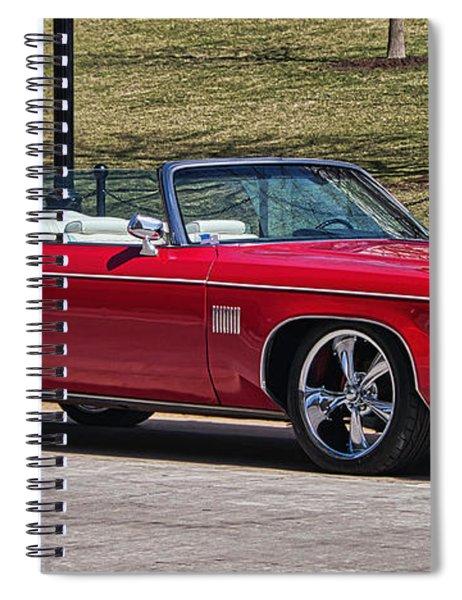 Oldsmobile Delta Royale 88 Red Convertible Spiral Notebook