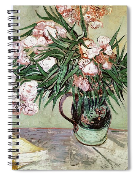 Oleanders And Books Spiral Notebook