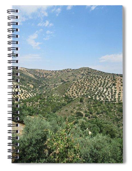 Olive Groves Near Iznajar Spiral Notebook