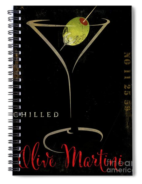 Olive Martini Spiral Notebook