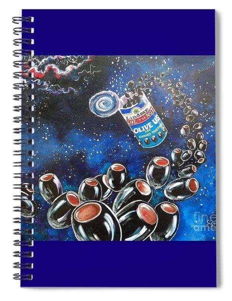 Blaa Kattproduksjoner                     Oliveus Are Canned Together Can Spiral Notebook