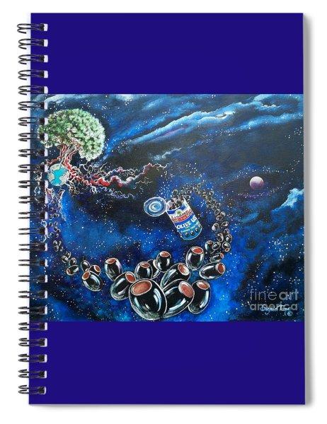 Blaa Kattproduksjoner          Oliveus Are Canned Together Spiral Notebook