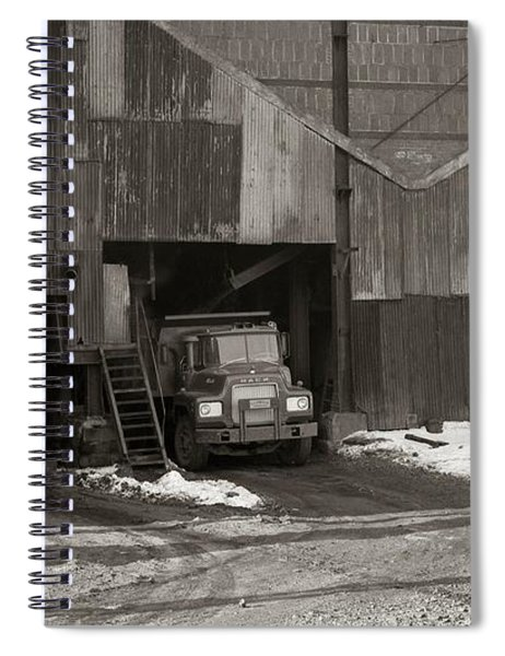 Olyphant Pa Coal Breaker Loading Trucks And Gondola Car Winter 1971 Spiral Notebook