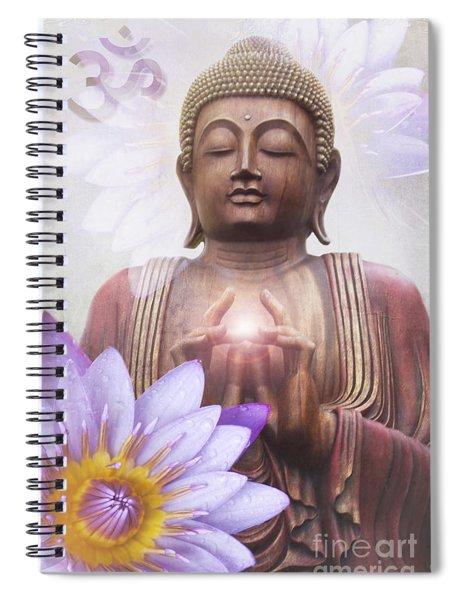 Om Mani Padme Hum - Buddha Lotus Spiral Notebook