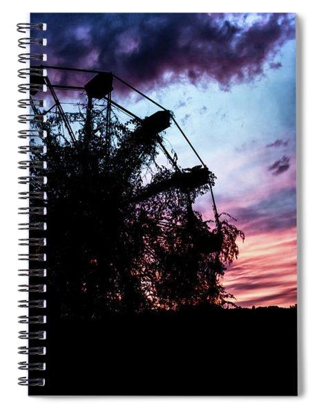 Ominous Abandoned Ferris Wheel Spiral Notebook