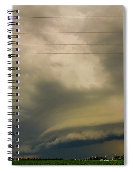Spiral Notebook featuring the photograph Ominous Nebraska Outflow 007 by NebraskaSC