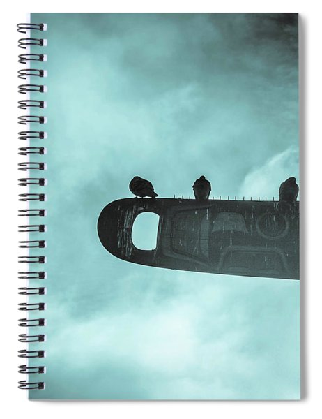 Ominously Seatlle  Spiral Notebook