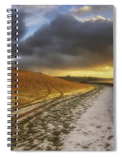 On A Country Walk At Sunset Spiral Notebook