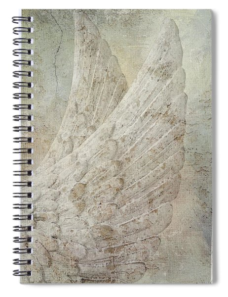 On Angels Wings Spiral Notebook