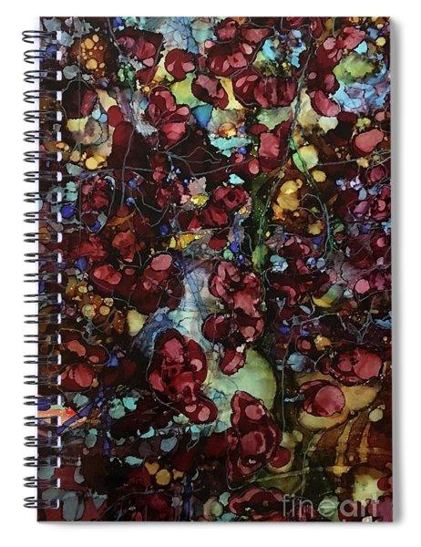 On Clustered Vine Spiral Notebook