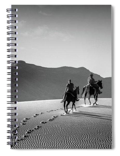 On Horseback At White Sands Spiral Notebook