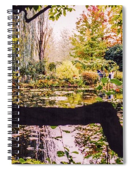 On Oscar - Claude Monet's Garden Pond  Spiral Notebook