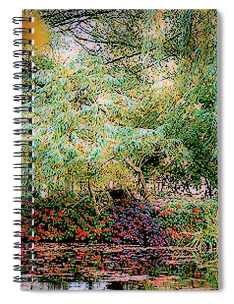 Reflection On, Oscar - Claude Monet's Garden Pond Spiral Notebook