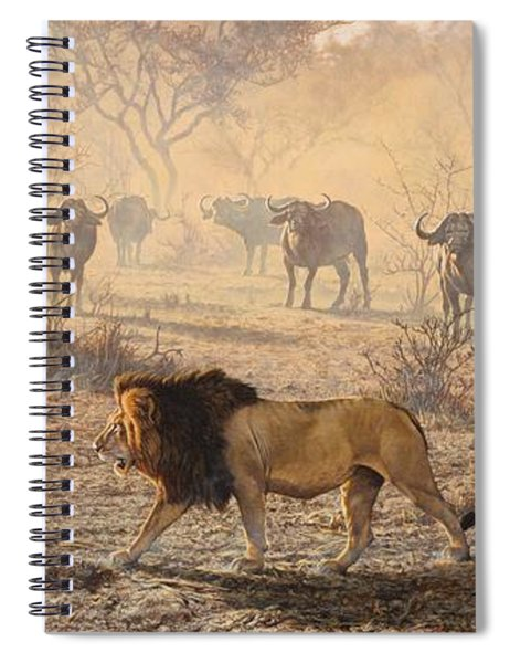 Spiral Notebook featuring the painting On Patrol by Alan M Hunt