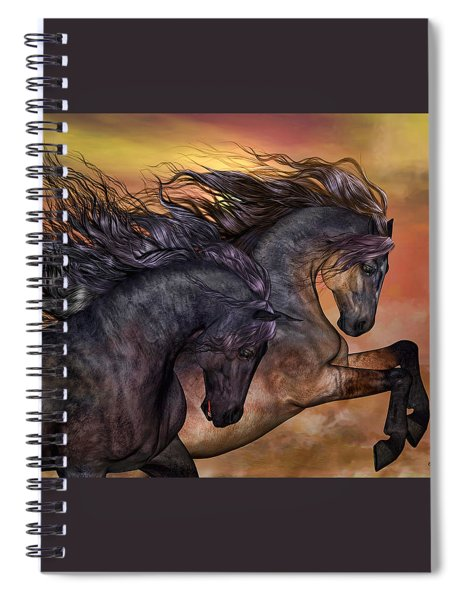 On Sugar Mountain Spiral Notebook by Valerie Anne Kelly