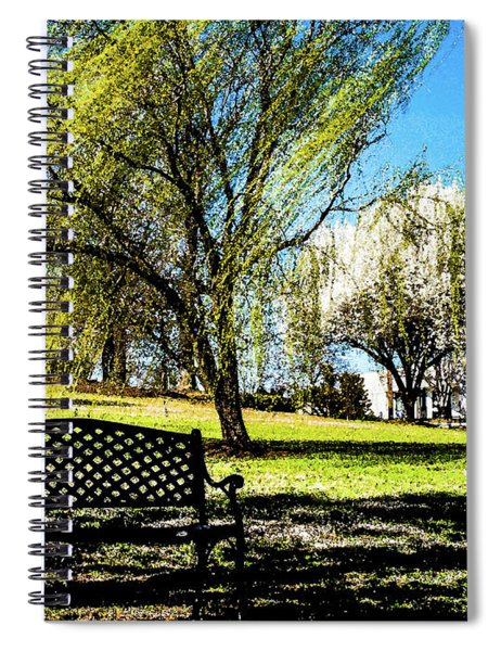 On The Bench Spiral Notebook