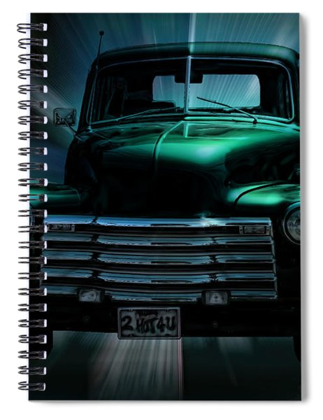 On The Move Truck Art Spiral Notebook