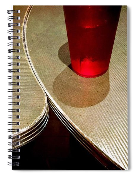 On The Right. #redglass #tables Spiral Notebook