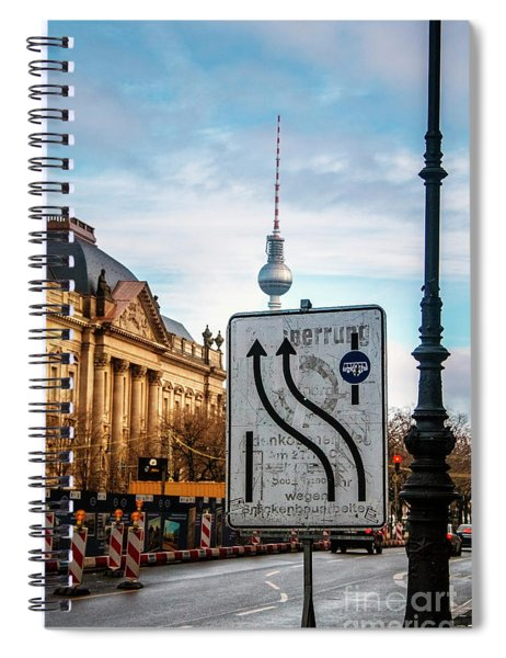 On The Road In Berlin Spiral Notebook