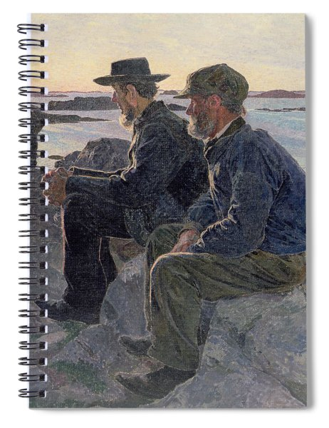 On The Rocks At Fiskebackskil Spiral Notebook