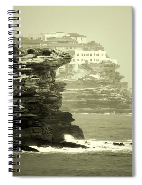 On The Rugged Cliffs Spiral Notebook