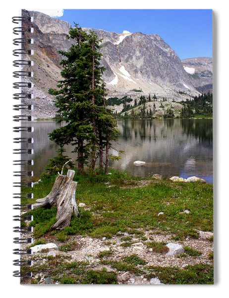 On The Snowy Mountain Loop Spiral Notebook