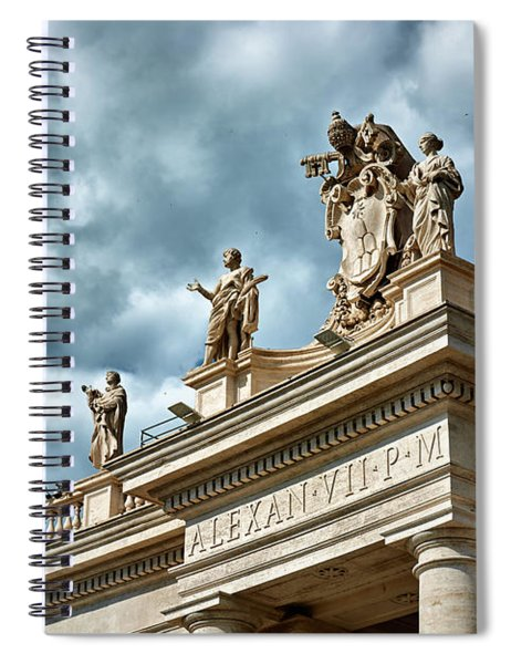 On Top Of The Tuscan Colonnades Spiral Notebook