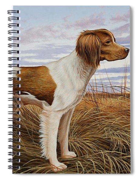 On Watch - Brittany Spaniel Spiral Notebook