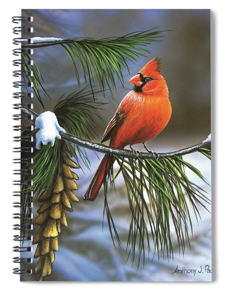 On Watch - Cardinal Spiral Notebook