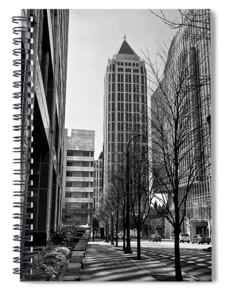 One Atlantic Center In Black And White Spiral Notebook