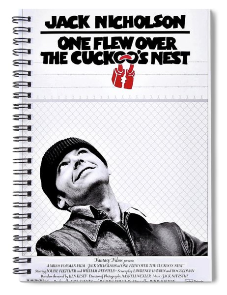 Spiral Notebook featuring the photograph One Flew Over The Cuckoo's Nest by Movie Poster Prints