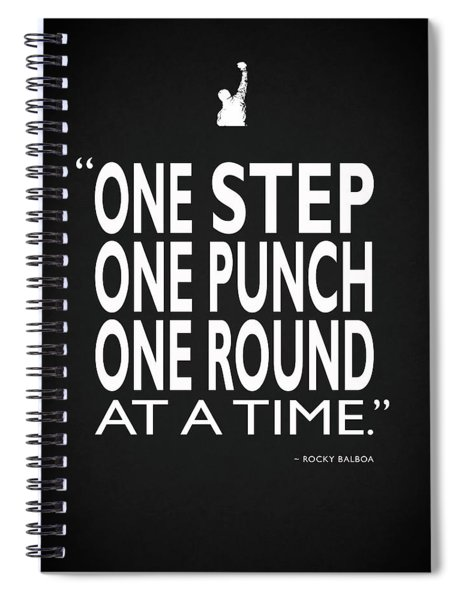 One Step One Punch One Round Spiral Notebook