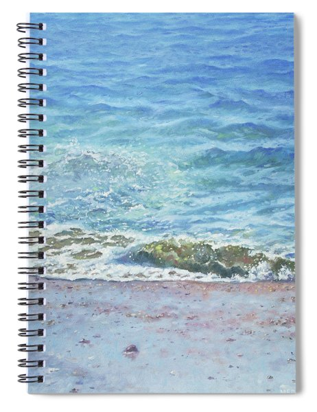 Spiral Notebook featuring the painting One Wave by Martin Davey