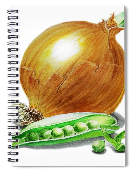 Onion And Peas Spiral Notebook