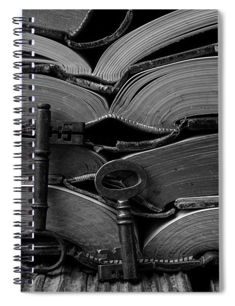 Open Books With Keys Spiral Notebook