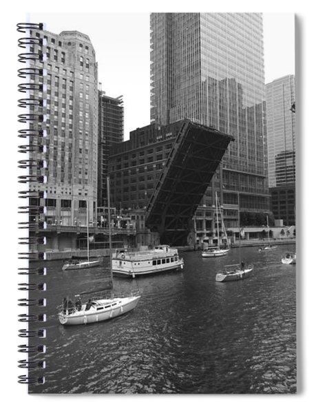Open Bridges In Chicago Spiral Notebook