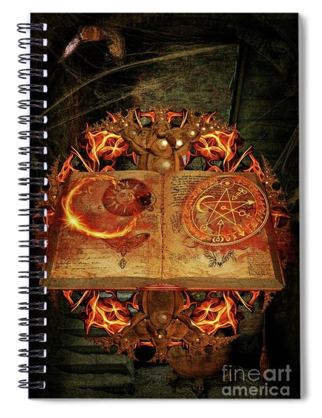 Open The Book Of The Occult Spiral Notebook