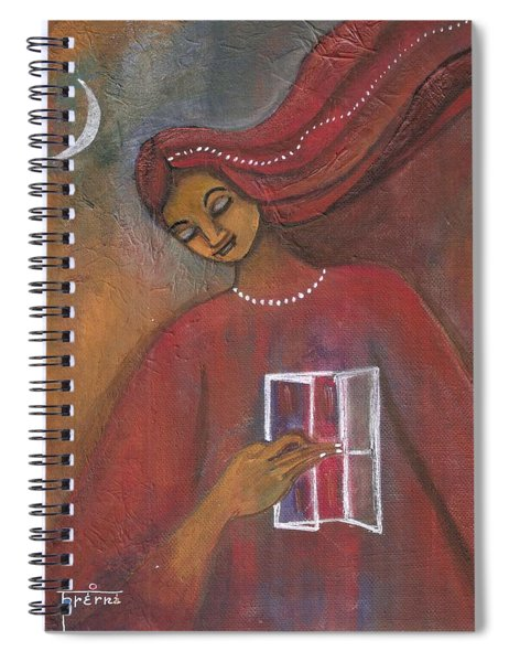 Open The Windows To Your Soul Spiral Notebook by Prerna Poojara