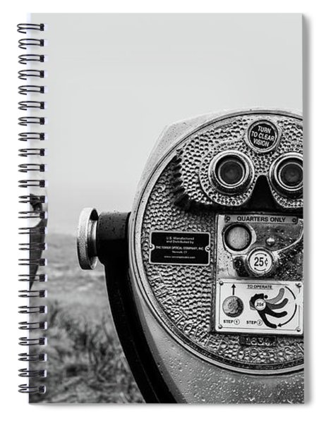 Optical Coin Operated Binoculars At Chatham Beach Cape Cod Spiral Notebook